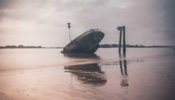 Schiffswrack bei Blankenese