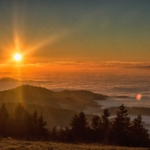 Sonnenuntergang-Kandel